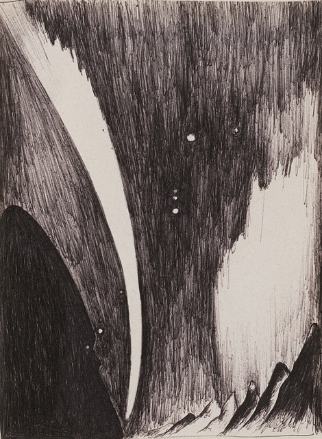 Enzo Cucchi, 'Untitled (Paysage)', 1987, Drawing, Collage or other Work on Paper, Pen on paper, Il Ponte