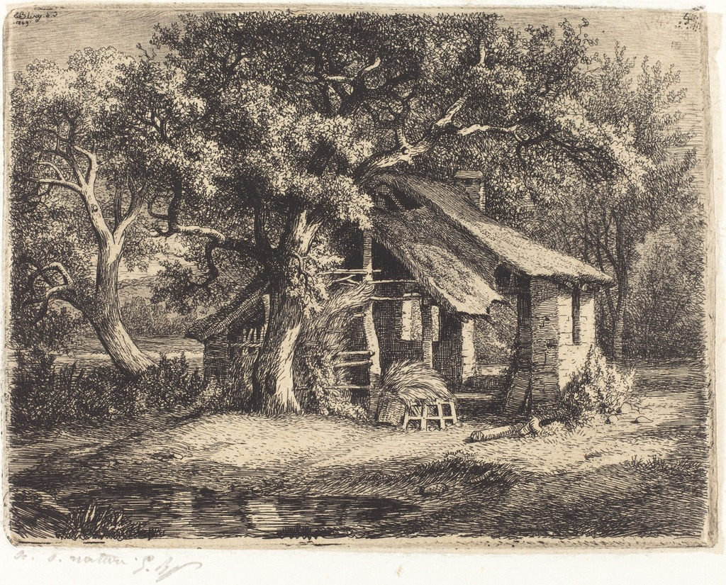 La chaumière au poirier (Cottage with Pear Tree)