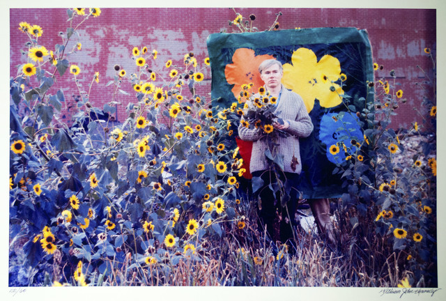 William John Kennedy, 'Andy Warhol with Flowers and his Flowers canvas in the background ', 1964, William John Kennedy Collection