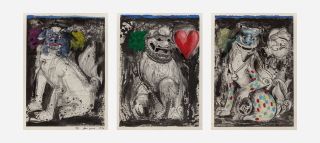 Jim Dine, 'Triptych - Fu Dogs', 1990, Heritage Auctions