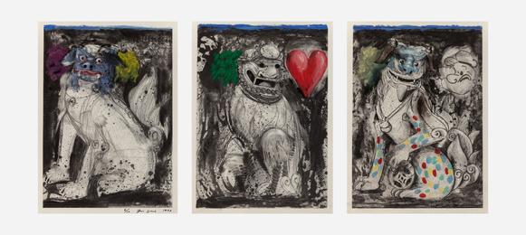 Triptych - Fu Dogs