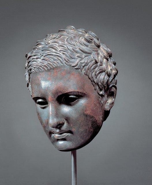 , 'Head of an Athlete ,' 200-1 B.C., J. Paul Getty Museum