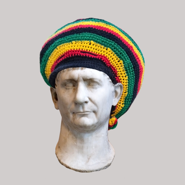 , 'Roman Emperor Trajan/Jamaican Rasta Hat,' 2018, JAUS