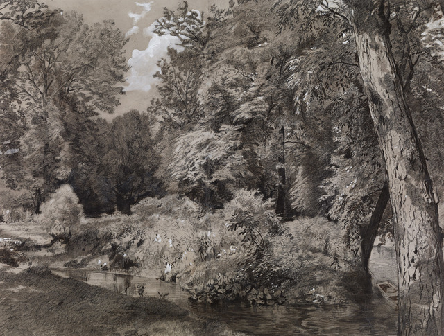 , 'Landscape with Stream,' ca. 1865, Avery Galleries