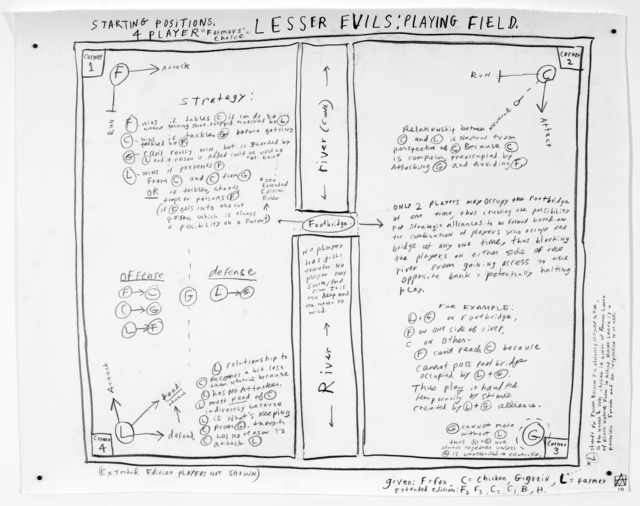 , 'Lesser Evils: Playing Field,' 2010, Nina Johnson