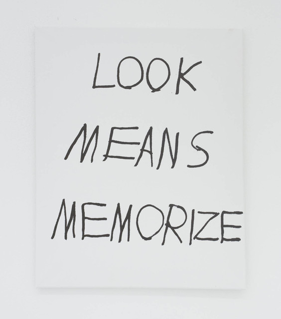, 'LOOK MEANS MEMORIZE,' 2016, The Hole
