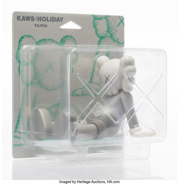 KAWS, 'Holiday: Taipei (Grey)', 2019, Sculpture, Painted cast vinyl, Heritage Auctions
