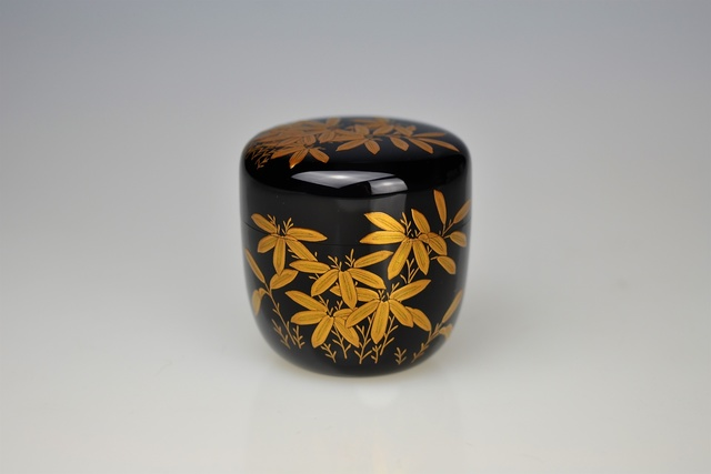 Ippyōsai VII Eizō, 'Gold Lacquer Tea Caddy with Bamboo', 1990-1999, Galerie Kommoss