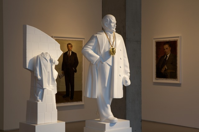 , 'Monumental Bling: Lenin East Berlin on Lenin Volgograd [1:25 scale],' 2013, Jane Lombard Gallery