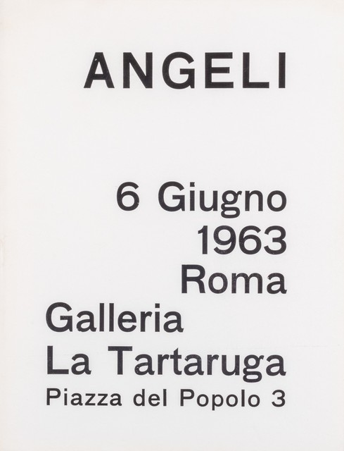 Franco Angeli, 'Angeli', 1963, Books and Portfolios, Catalogue, Finarte