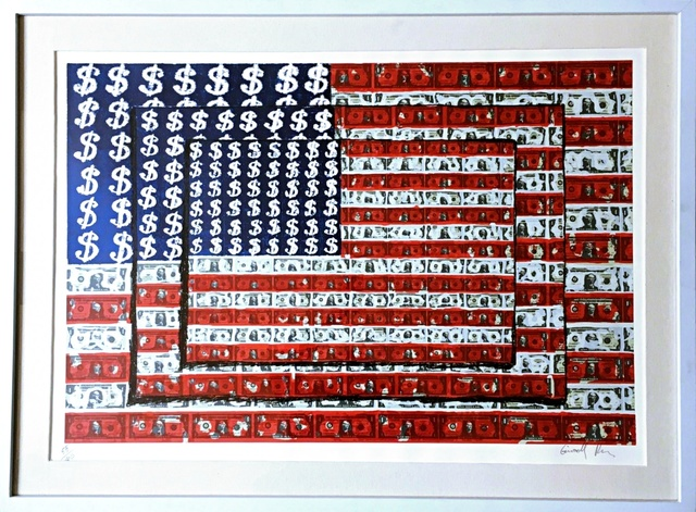 Emiliano Gironella Parra, ' Homenaje a Jasper Johns (Homage to Jasper Johns)', 2003, Print, Silkscreen. Hand Signed. Numbered. Framed., Alpha 137 Gallery