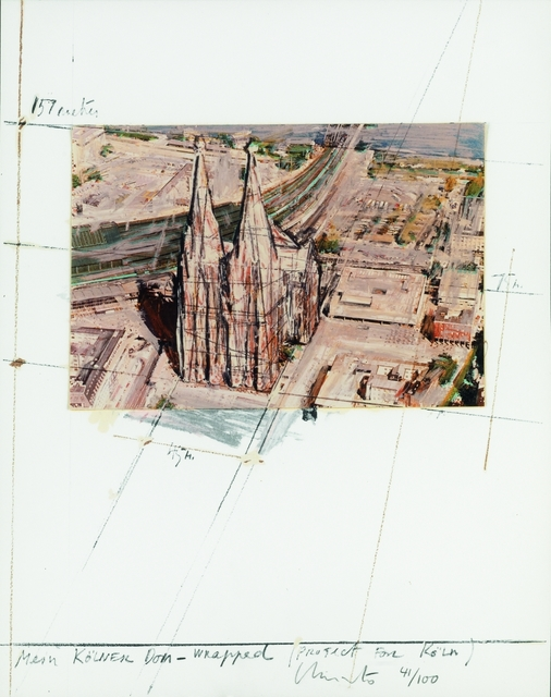 , 'Mein Kölner Dom Wrapped (Project for Köln),' 1985, MILL Contemporary