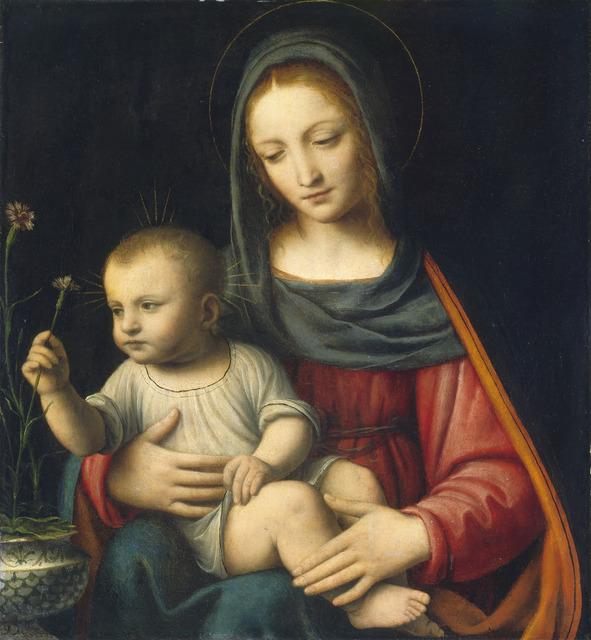 Bernardino Luini, 'The Madonna of the Carnation,' ca. 1515, National Gallery of Art, Washington, D.C.