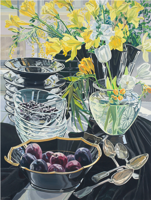 , 'Black Vase with Daffodils,' 1980, DC Moore Gallery