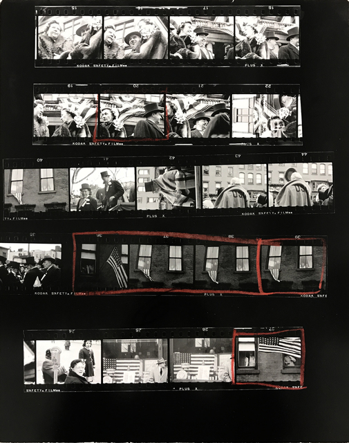", 'Contact Sheet #1 From ""The Americans. 81 Contact Sheets"",' 2009, Danziger Gallery"