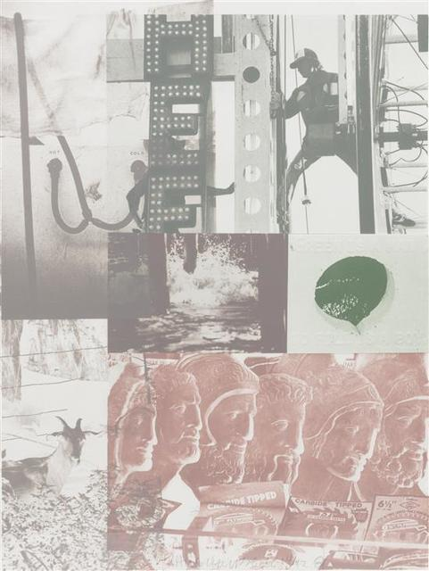 Robert Rauschenberg, 'American Pewter With Burroughs II', 1981, Perry J. Cohen Foundation Benefit Auction