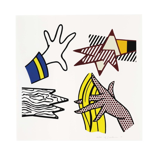 Roy Lichtenstein, 'Study of Hands', 1981, Print, Screenprint in colors on Rives BFK paper, Christie's