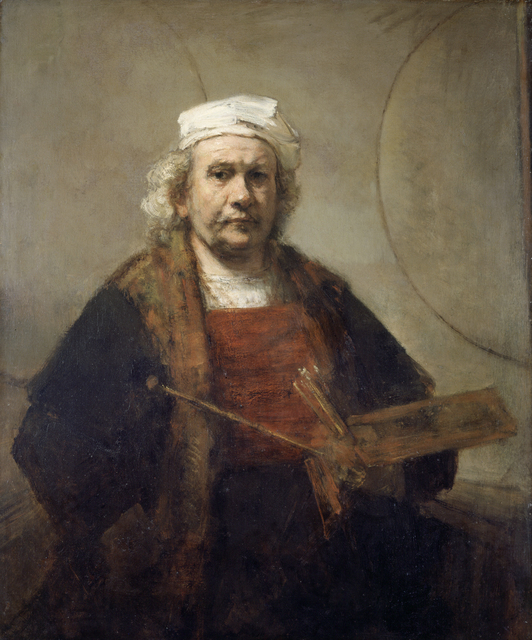 , 'Self Portrait with Two Circles,' about 1665-69, The National Gallery, London