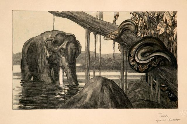 , 'Elephant and Python,' 1948, Galerie Marcilhac