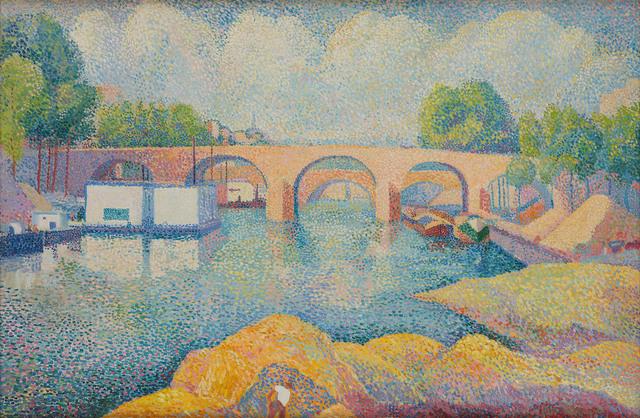 Hippolyte Petitjean, 'Un pont à Paris', ca. 1890, Stoppenbach & Delestre