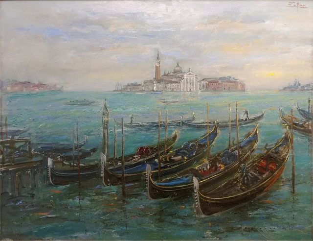 , 'Gondolas by San Marco, View to San Giorgio,' 2017, Galerie d'Orsay