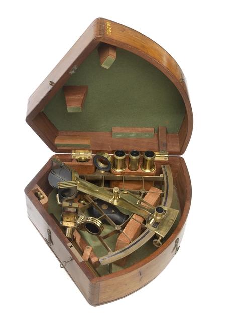, 'Sextant and Case,' c. 1865, Cooper Hewitt, Smithsonian Design Museum