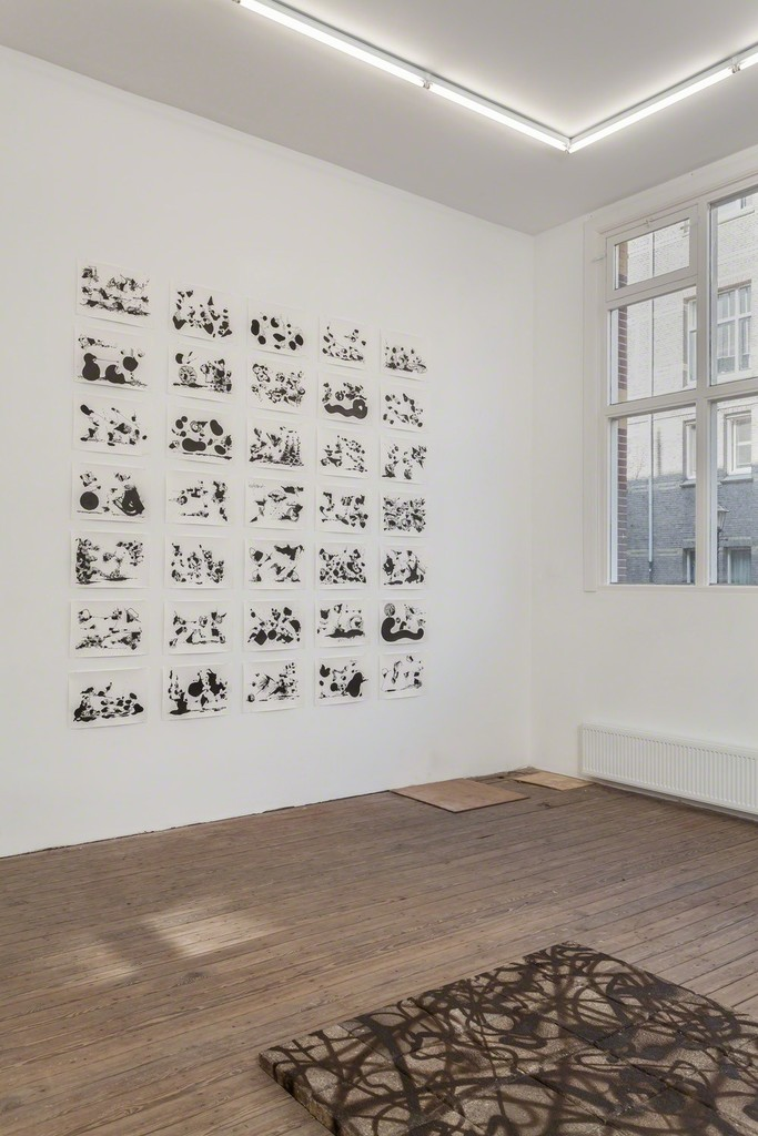 Installation view of Abstract Vandalism with work by Egs and Nug. Photo Peter Tijhuis.