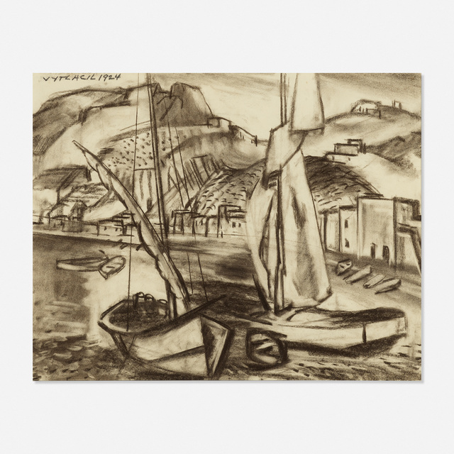 Vaclav Vytlacil, 'Untitled', 1924, Drawing, Collage or other Work on Paper, Charcoal on paper, Rago/Wright