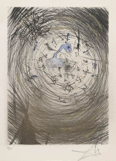 Salvador Dalí, 'Sator', 1968, Print, Original drypoint etching printed in black ink on cream paper.  With hand-coloring added in gouache, Galerie d'Orsay