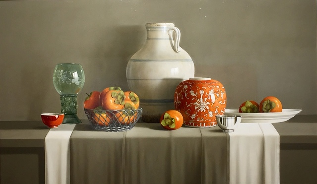 , 'Indonesian Jug with Sharon Fruit,' 2019, Thompson's Galleries