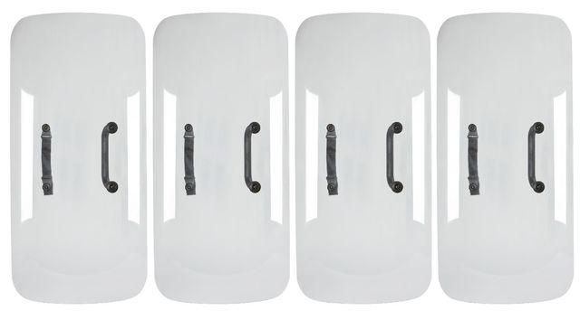 Michael Joo, 'Divided/Echoed', 2012, Mixed Media, Four shields, aluminized low-iron glass, Roseberys
