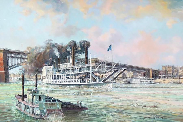 Michael Blaser, 'St. Louis, Steamer, Alton, 1908', 20th Century, The Illustrated Gallery