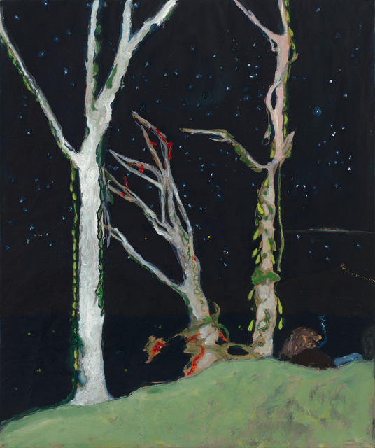 ", '""Figures at Night"",' 2017, Michael Werner Gallery"