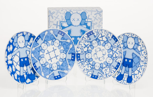 KAWS, 'Holiday: Taipei, set of four,', 2019, Other, Ceramic plate set, Heritage Auctions