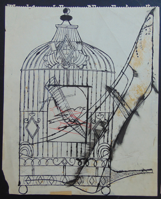 , 'Bird in a Cage and Shoe,' 1956, Gilden's Art Gallery