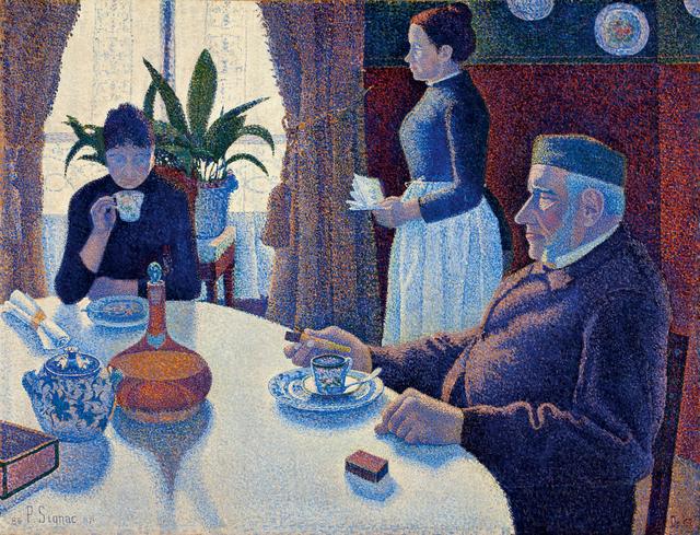 Paul Signac, 'The dining room, Opus 152', 1886/1887, Painting, Oil on canvas, Kröller-Müller Museum