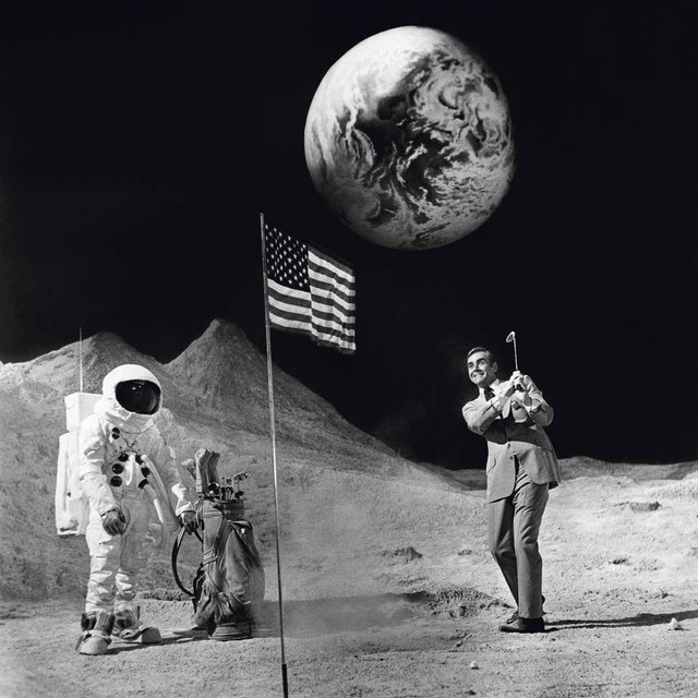 Terry O'Neill, 'Sean Connery' (Golfing on the Moon)', 1971, Photography, C-print, IFAC Arts