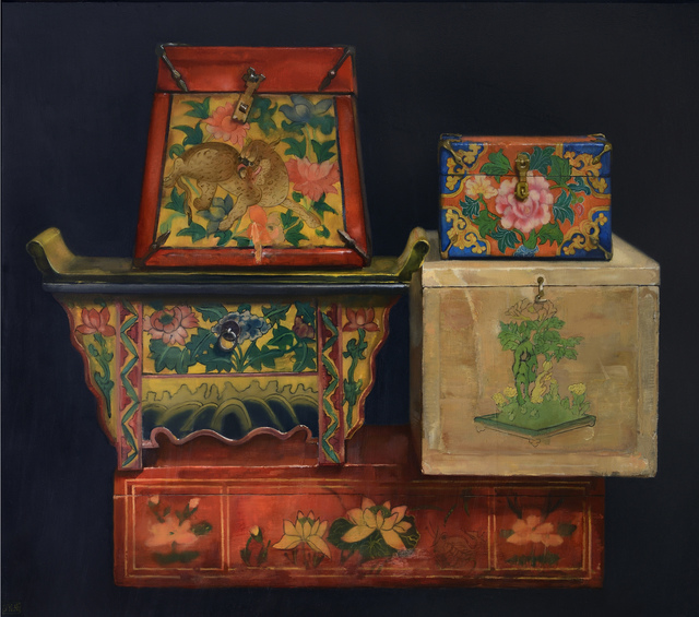 , 'The Curious Chinese Boxes,' 2015, Gallery Henoch