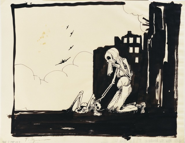 Tomi Ungerer, 'Untited (After the Bombing)', c. 1980, Drawing Center