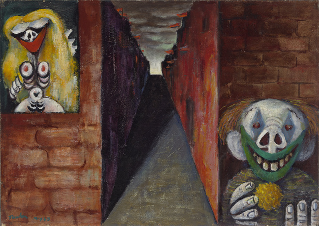 Albert Tucker, 'Image of modern evil: Woman and clown  ', 1943, National Gallery of Victoria