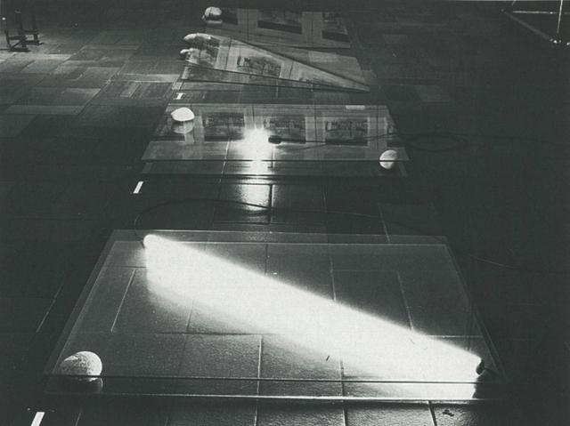 , 'One glass plate-Two stones,' 1977, Yumiko Chiba Associates