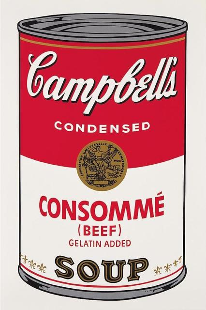 Andy Warhol, 'Consomme Beef Soup', 1968, OSME Fine Art