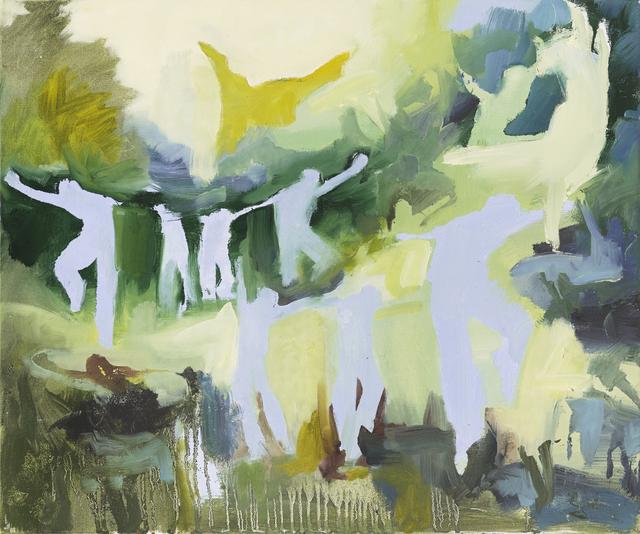 Iwalani Kaluhiokalani, 'Send The Mright Over (Red Rover)', 2020, Painting, Oil on canvas, Galatea Fine Art
