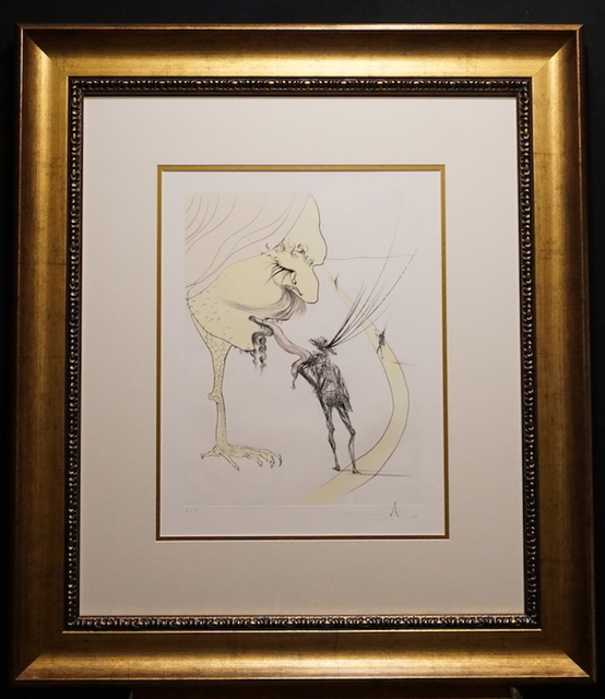 Salvador Dalí, 'After 50 Years of Surrealism Picasso a Ticket to Glory', 1974, Print, Etching, Fine Art Acquisitions Dali