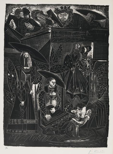 Pablo Picasso, 'David and Bathsheba, after Lucas Cranach (David et Bethsabée, d'après Lucas Cranach)', 1949, Zeit Contemporary Art