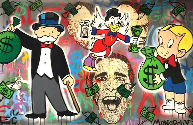 , 'Monopoly/Flying Scrooge/ Richie,' 2017, Eden Fine Art