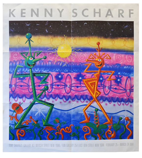 Kenny Scharf, 'Tony Shafrazi poster', 1985, Gallery 52