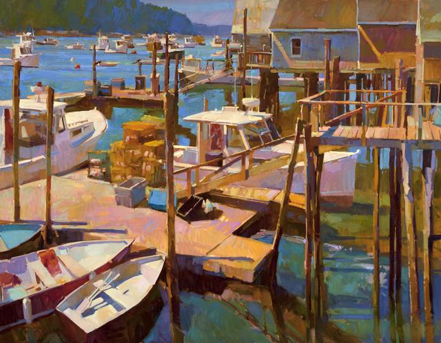 , 'Docks at Friendship Harbor,' , Dowling Walsh