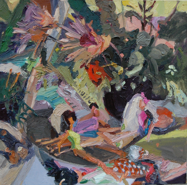 Gulgun Aliriza, 'Untitled (Bathers)', 2010, Painting, Oil on canvas, Blue Mountain Gallery
