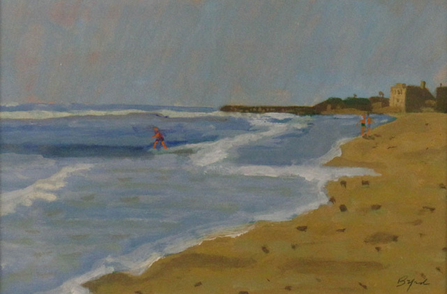 Gibson Byrd, 'At the Shore', ca. 1975, Painting, Gouache, Janus Galleries